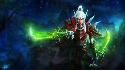Elf Warcraft Blood Rogue Word Desktop Wallpapers