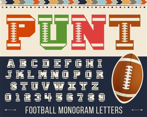 football font svg football monogram font svg football alphabet