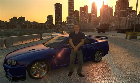 nissan skyline 2002 paul walker paul walker and nissan skyline r34 gt r gta iv galleries