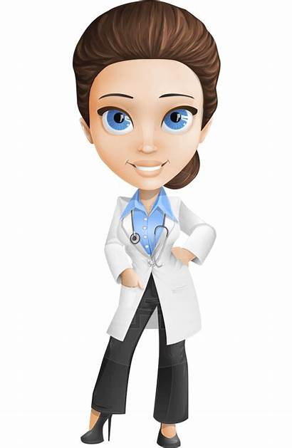 Character Clipart Doctor Dr Cartoon Vector Janette