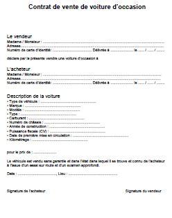 modèle contrat de prêt à usage contrat de vente de voiture d occasion pdf