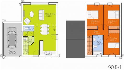 plan maison plein pied 4 chambres plan maison etage 90m2