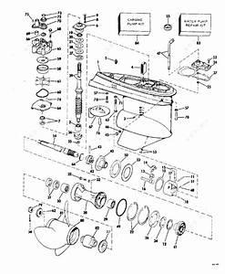 Evinrude 1978 115 - 115893c  Gearcase