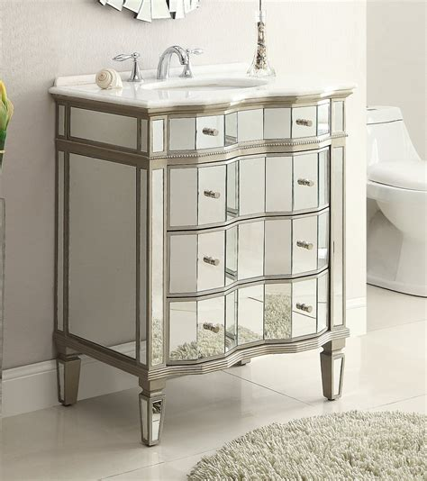 Adelina 30 Inch Mirrored Bath Vanity Cabinet Mirror