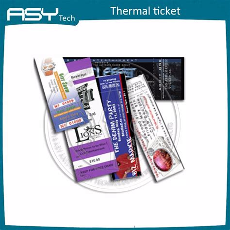 Thermal Paper Templates by Paper And Paperboard Products Thermal Paper Ticket