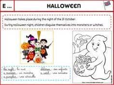 Anglais  Halloween  English, English Lessons And English Class