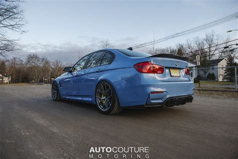 Yas Marina Blue Bmw M3 With Bbs Wheels, Carbon Fiber And A