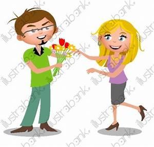 Offrir Un Bouquet De Fleurs : offrir des fleurs illustration saint valentin libre de droit sur ~ Melissatoandfro.com Idées de Décoration
