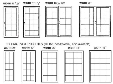 pretty standard french door size   standard size