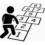 Games Jumping Hopscotch Icon Children Numbers Transparent
