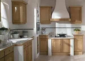 Decoration cuisine chene clair for Deco cuisine avec buffet chene clair