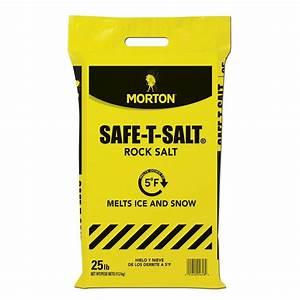 Morton Salt 25 Lb  Rock Salt Bag-4658