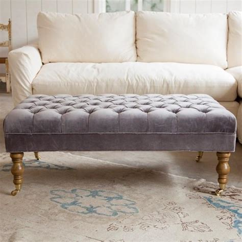 tufted blue ottoman liliput tufted ottoman at ashwell shabby chic couture