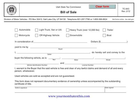 Boat Bill Of Sale Images by Bill Of Sale Form Pdf