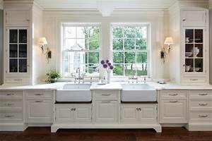 Kitchen with two sinks transitional kitchen yunker for What kind of paint to use on kitchen cabinets for art deco wall sconces lighting
