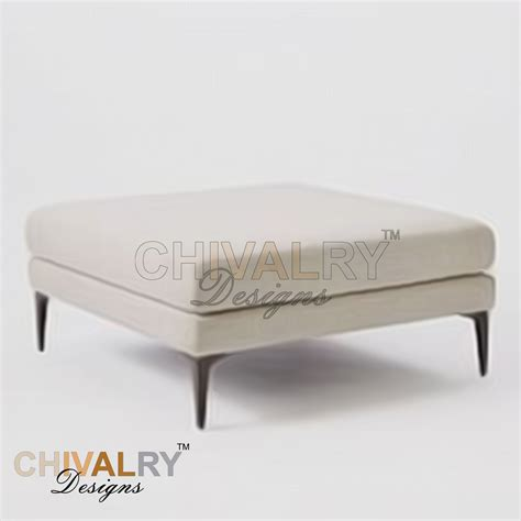 Cushioned Ottoman by Ottomans Footstools Alvin Cushioned Ottoman For Sale