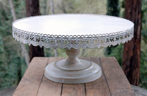 vintage cake stands vintage metal cake stand white 22in