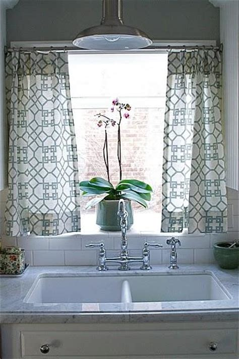 kitchen sink window treatment ideas kitchen cafe curtains transitional kitchen caitlin