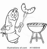Sausage Clipart Sizzle Illustration Colouring Sausages Pages Salami Hit Royalty Toon Clipartstation Suggest sketch template