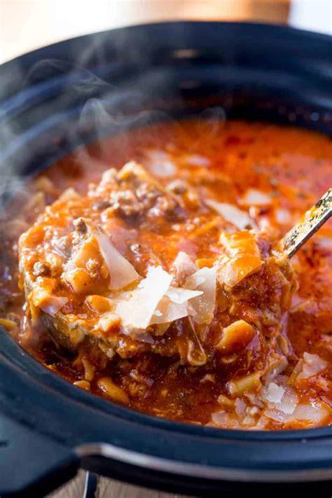 lasagna soup slow cooker keto dinnerthendessert filling dinner easy serve recipes dessert soups mix winter quick cheese bread pasta lunch