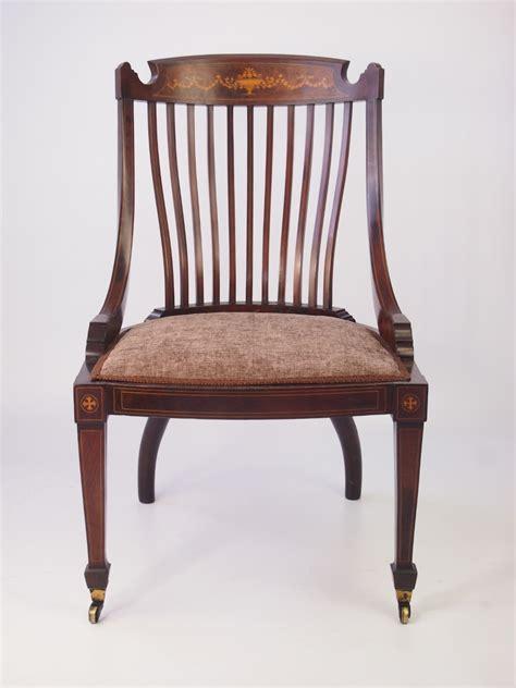 vintage tub chairs inlaid mahogany tub chair dressing table chair 3262