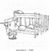Bunk Beds Coloring Camp Cartoon Template Outline Sketch sketch template