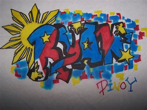Graffiti Nama Riyan : Ryan Name Tagged Pinoy Pride By Doreigon On Deviantart