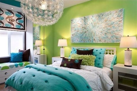 lime green  turquoise bedroom teen girls bedroom ideas