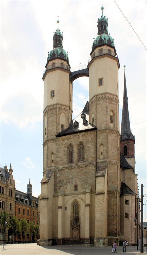 ev marktkirche st marien hallesaale stadt hallesaale