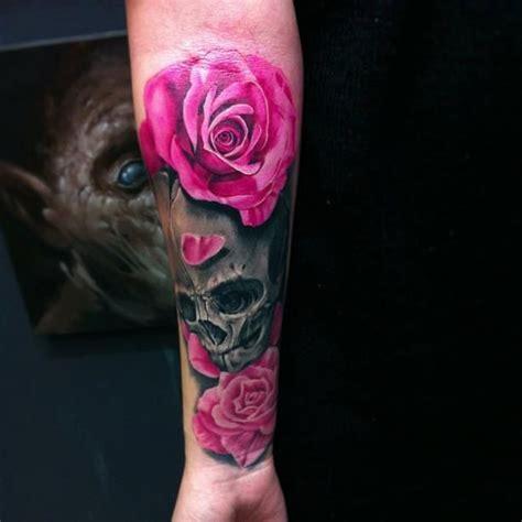 rose tattoo fashion skull design