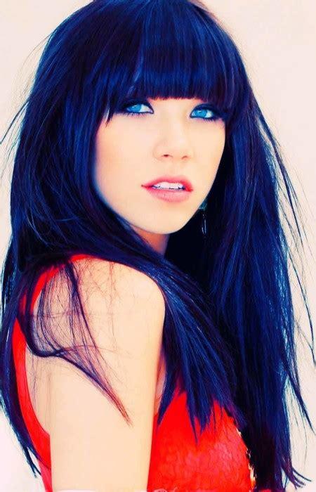 Blue Black Hair Tips And Styles Dark Blue Hair Dye Styles