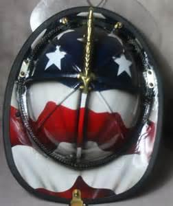 Custom Leather Fire Helmet