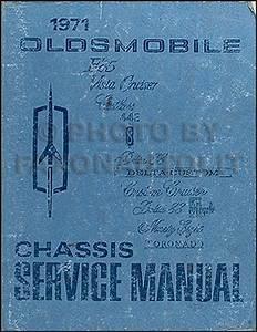 1971 Oldsmobile Repair Shop Manual Original 442  Cutlass  88  98  Toronado
