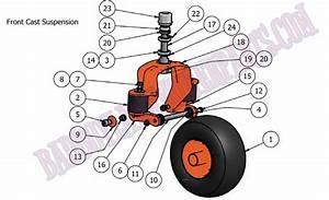 Bad Boy Mower Part  2010 Compact Diesel Front Wheel