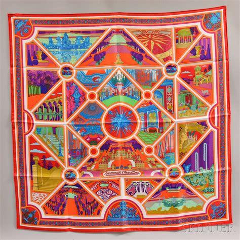 hermes promenade  versailles silk scarf sale number