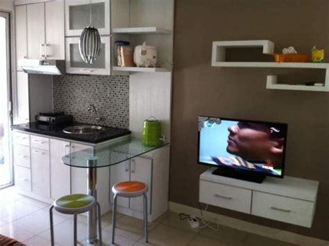 desain dapur apartemen kesayangan gambar  home