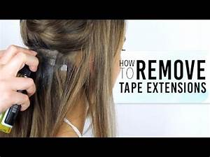How To Remove Tape Hair Extensions ZALA Hair YouTube