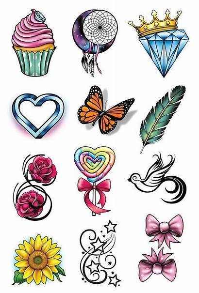 Tattoo Party Tattoos Girly Temporary Designs Flash
