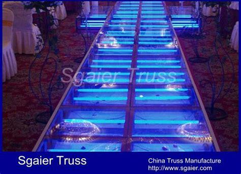 acrylic wedding stage decoration glass stage transparent