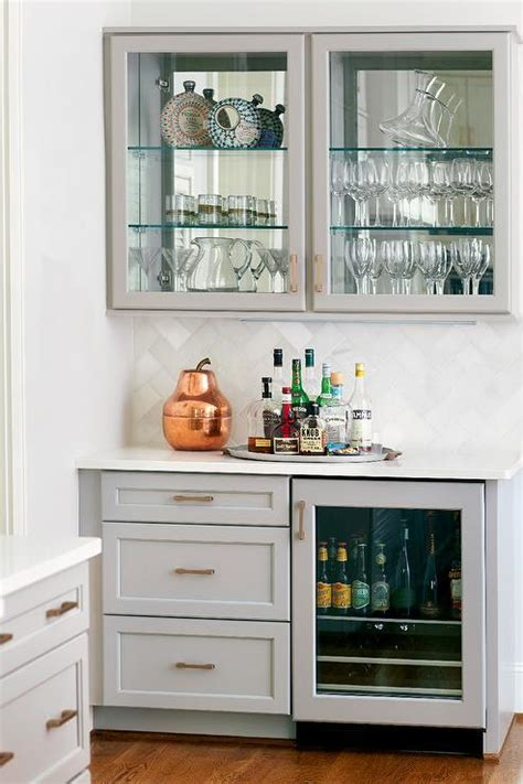 victuals grey bar cabinet gray kitchen bar with glass door beverage fridge