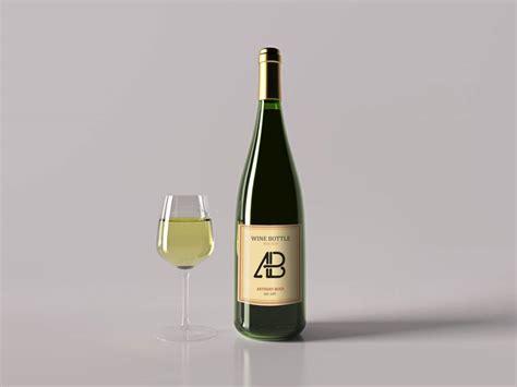 wine bottle clean wine bottle mockup mockupworld
