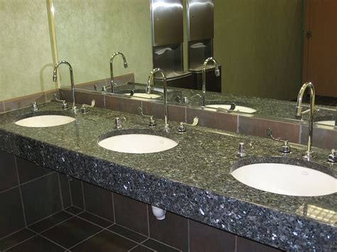 forged by creation granite commercial bathroom broken