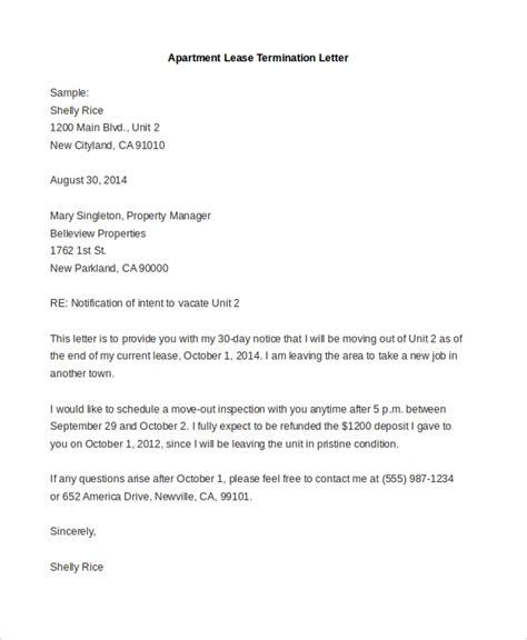 apartment lease termination letter sample termination letter 8 free documents in pdf doc 20474 | apartment lease termination letter