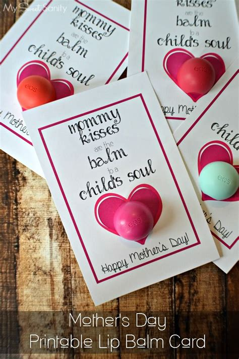mothers day printable lip balm card crafts mothers  kid