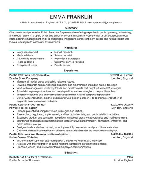 best relations resume exle livecareer