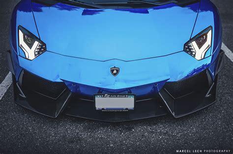 lamborghini aventador lp    chrome blue detail