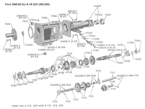49 Ford Automatic Transmission Parts Diagram