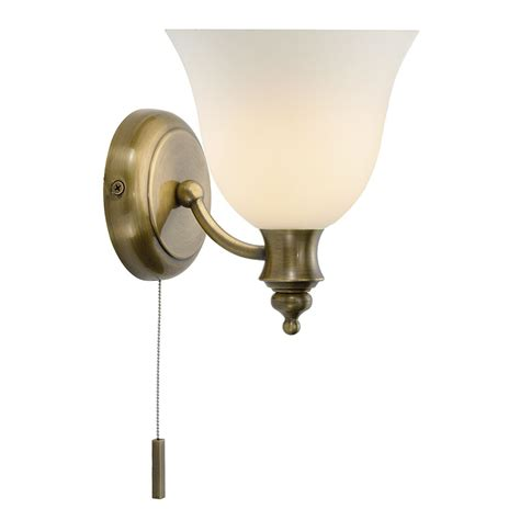 oboe wall light antique brass