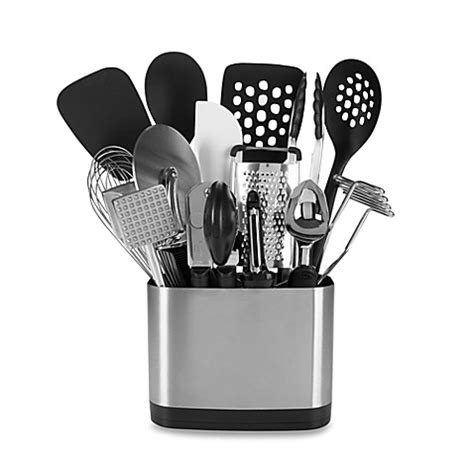 kitchen tool caddy oxo grips 174 15 kitchen tool set bed bath beyond