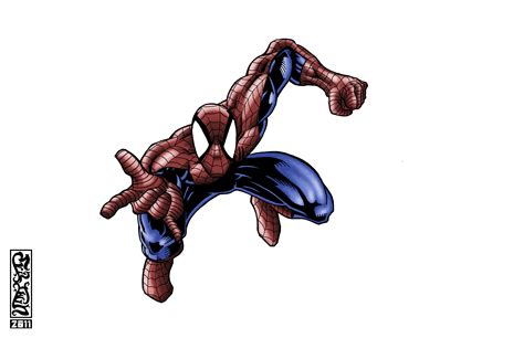 Spider Man Jumping By Thexevilxtw1n On Deviantart